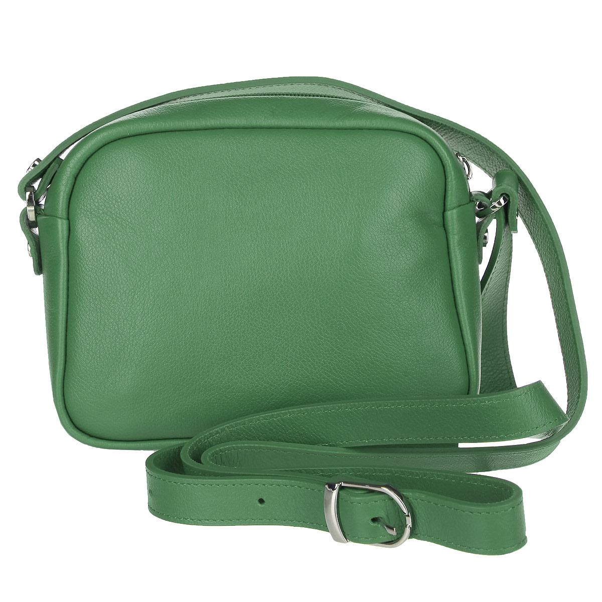 Сумка женская Fabula, цвет: зеленый. S.137.FPS.137.FP. зеленыйОригинальная женская мини-сумка Fabula из коллекции Every day выполнена из мягкой натуральной кожи. Сумка закрывается на пластиковую застежку-молнию. Внутри - основное объемное отделение и небольшой нашивной кармашек для телефона или мелочей. На задней стенке - прорезной карман на застежке-молнии. Плечевой ремень регулируемой длины. Роскошная сумка внесет элегантные нотки в ваш образ и подчеркнет ваше отменное чувство стиля.