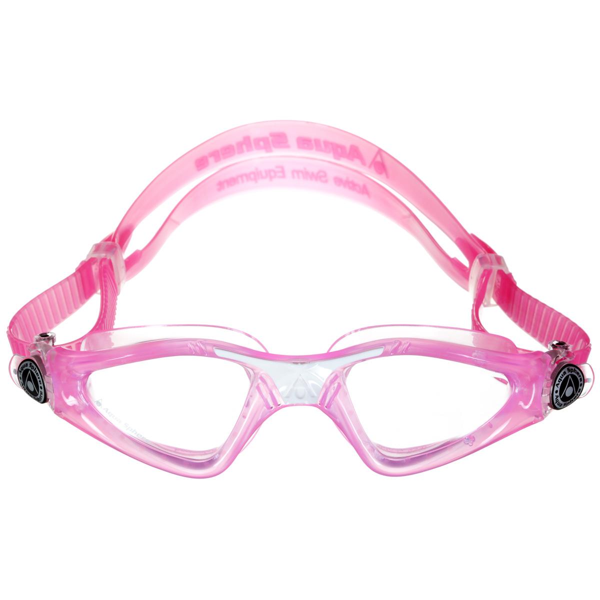 Очки для плавания Aqua Sphere Kayenne Junior, цвет: розовый, белыйTN 170980Детские очки для плавания Aqua Sphere Kayenne Junior идеально подходят для плавания в бассейне или открытой воде. Оснащены линзами с антизапотевающим покрытием, которые устойчивы к появлению царапин. Мягкий комфортный обтюратор плотно прилегает к лицу. Запатентованные изогнутые линзы дают прекрасный обзор на 180° - без искажений. Рамка имеет гидродинамическую форму. Очки оснащены удобными быстрорегулируемыми пряжками. Детский вариант популярных очков для плавания Kayenne, сохраняет все лучшее от взрослой модели: Мягкую не травмирующую обтюрацию. Увеличенную линзу. Удобную регулировку ремешков. Расцветка и дизайн обязательно понравятся вашему ребенку! Материал: софтерил, plexisol.
