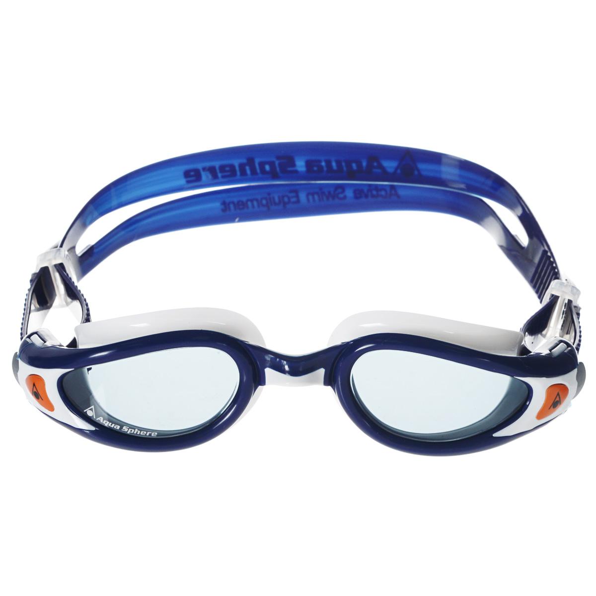 """Очки для плавания Aqua Sphere """"Kaiman Exo Junior"""", цвет: синий, белый"""