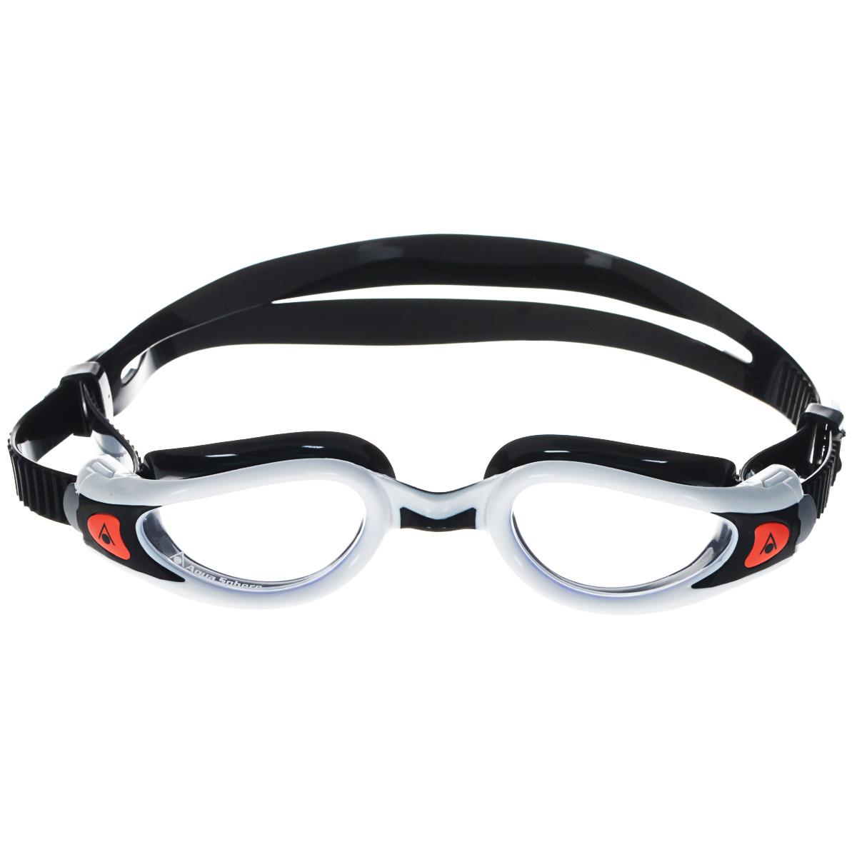 Очки для плавания Aqua Sphere Kaiman Exo Lady, цвет: белый, черныйTN 175710Модные и стильные очки Kaiman Exo Lady идеально подходят для плавания в бассейне или открытой воде. Особая технология изогнутых линз позволяет обеспечить превосходный обзор в 180°, не искажая при этом изображение. Очки дают 100% защиту от ультрафиолетового излучения. Специальное покрытие препятствует запотеванию стекол. Новая технология каркаса EXO-core bi-material обеспечивает максимальную стабильность и комфорт. Материал: софтерил, plexisol.