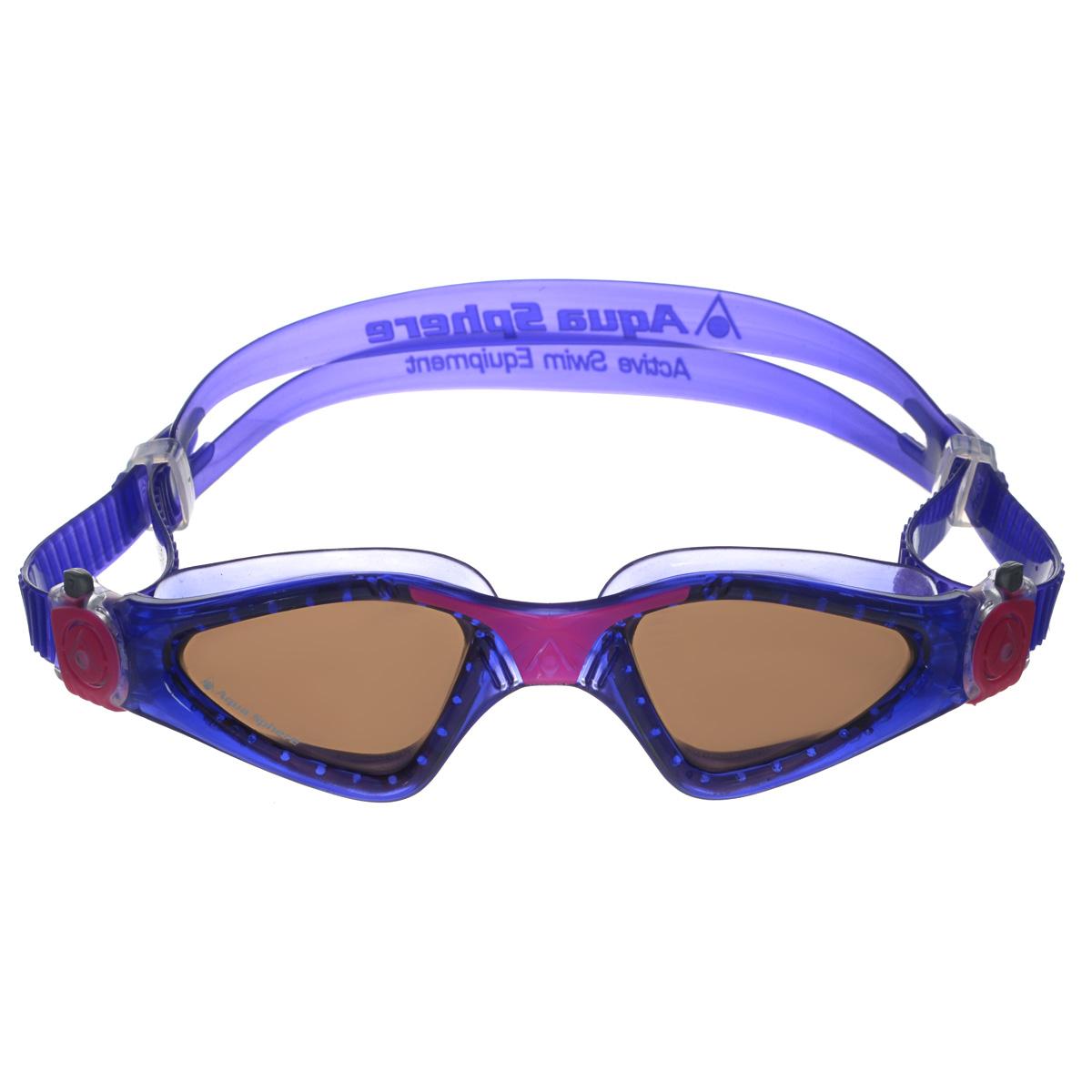 Очки для плавания Aqua Sphere Kayenne Lady, цвет: фиолетовый, розовый, черныйTN 172750Модные и стильные очки для плавания Aqua Sphere Kayenne Lady идеально подходят для плавания в бассейне или открытой воде. Оснащены линзами с антизапотевающим покрытием, которые устойчивы к появлению царапин. Мягкий комфортный обтюратор плотно прилегает к лицу. Запатентованные изогнутые линзы дают прекрасный обзор на 180° - без искажений. Рамка имеет гидродинамическую форму. Очки оснащены удобными быстрорегулируемыми пряжками. Материал: софтерил, plexisol.
