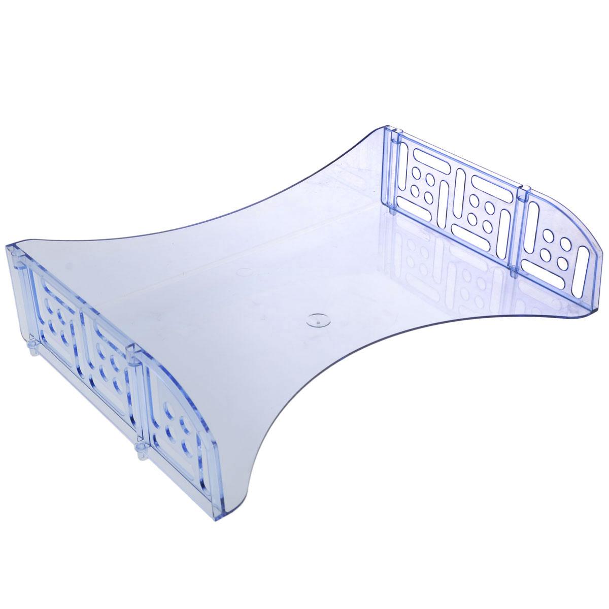 Лоток для бумаг горизонтальный с широкой загрузкой Стамм Филд, цвет: голубой. ЛТ804ЛТ804Горизонтальный лоток для бумаг Стамм Филд предназначен для хранения бумаг и документов формата А4. Лоток с оригинальным дизайном корпуса поможет вам навести порядок на столе и сэкономить пространство. Лоток изготовлен из прочного пластика. Широкая загрузка во фронтальной части лотка облегчает изъятие документов из накопителя. Несколько лотков можно ставить друг на друга. Лоток для бумаг станет незаменимым помощником для работы с бумагами дома или в офисе, а его стильный дизайн впишется в любой интерьер. Благодаря лотку для бумаг, важные бумаги и документы всегда будут под рукой.
