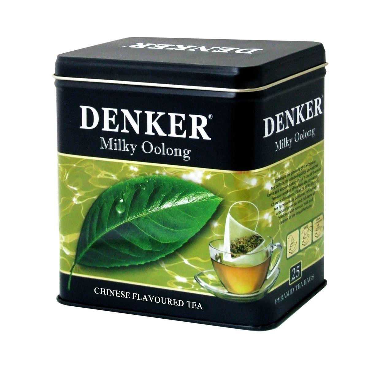 Denker Milky Oolong зеленый чай в пирамидках, 25 шт1080022Чай Denker Milky Oolong гармонично совмещает в себе освежающий аромат зеленого и насыщенный вкус черного чаев с оттенками молока и карамели в длительном полевкусии. Улун - вершина чайной культуры Китая. Благодаря своему отборному качеству, неповторимому вкусу и древней истории, он является одним из самых известных сортов чая, выращиваемых на знаменитых китайских плантациях.