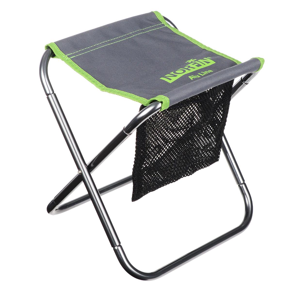 Стул складной Norfin Sandnes NF Alu, цвет: серый, зеленый, 22 см х 20 см х 27 смNF-20216Складной стул Norfin Sandnes NF Alu имеет очень маленькие размеры, ножки стула разбираются и складываются. При том что стул очень легкий, он выполнен из авиационного алюминия и ультрапрочной ткани, поэтому может выдерживать вес до 120 кг. Он легко поместится в кармане вашей одежды либо в кармане вашего рюкзака. В комплекте чехол для переноски и хранения.