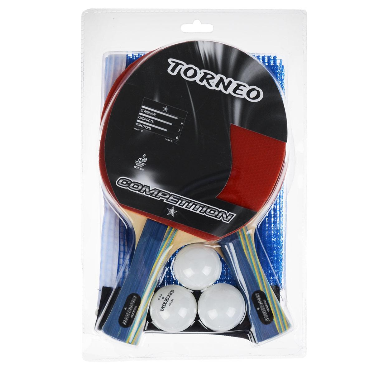 "TORNEO Набор для настольного тенниса ""Torneo"", 6 предметов. TI-BS1000"