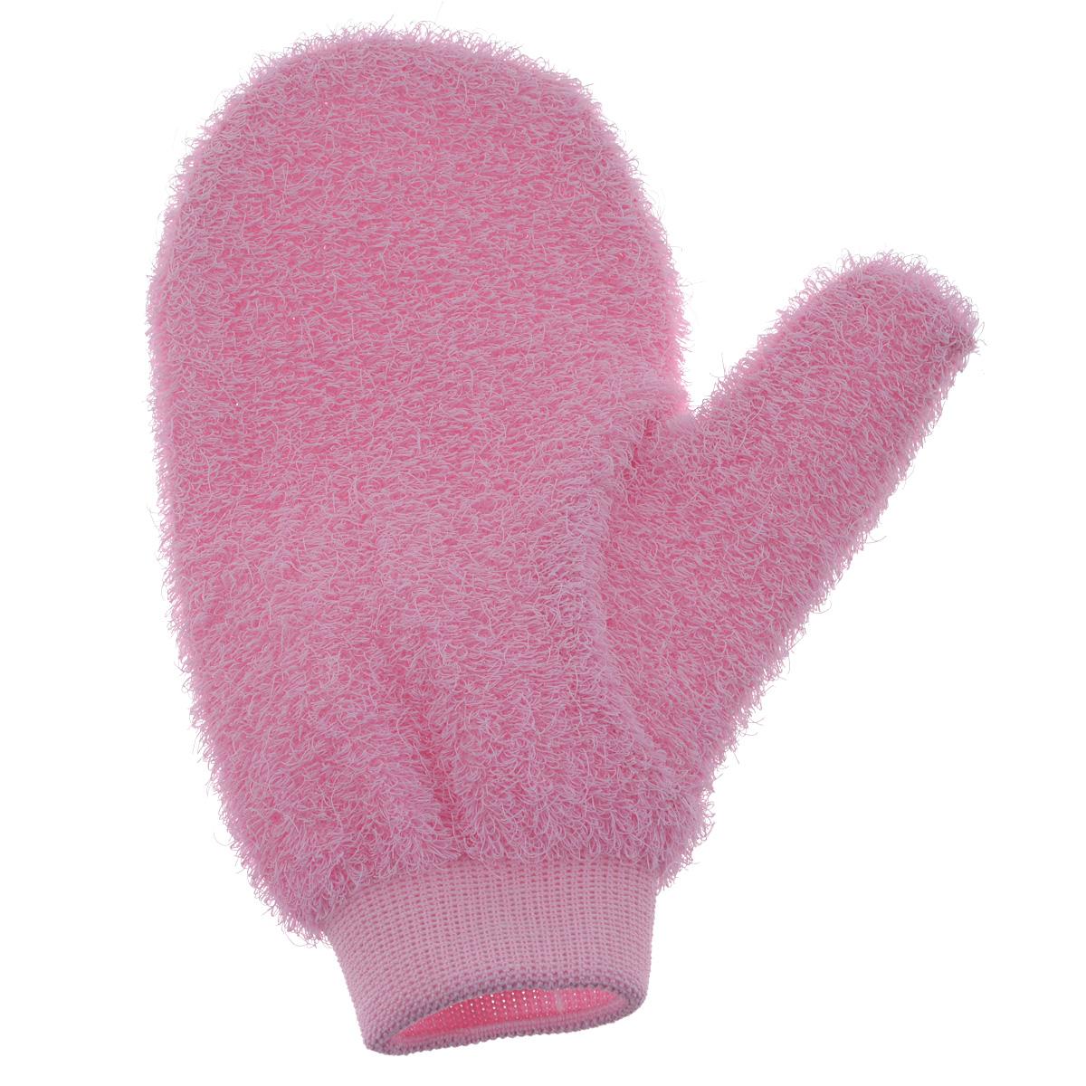Riffi Мочалка-рукавица массажная, жесткая, розовый750_розовыйЖесткая мочалка-рукавица Riffi используется для мытья тела, обладает активным пилинговым действием, тонизируя, массируя и эффективно очищая вашу кожу. Интенсивный и пощипывающе свежий массаж с применением Riffi оживляет кожу, активирует кровоснабжение и улучшает общее самочувствие. Благодаря отшелушивающему эффекту освобождает кожу от отмерших клеток, делает ее гладкой, упругой и свежей. Приносит приятное расслабление всему организму. Эффективно предупреждает образование целлюлита.