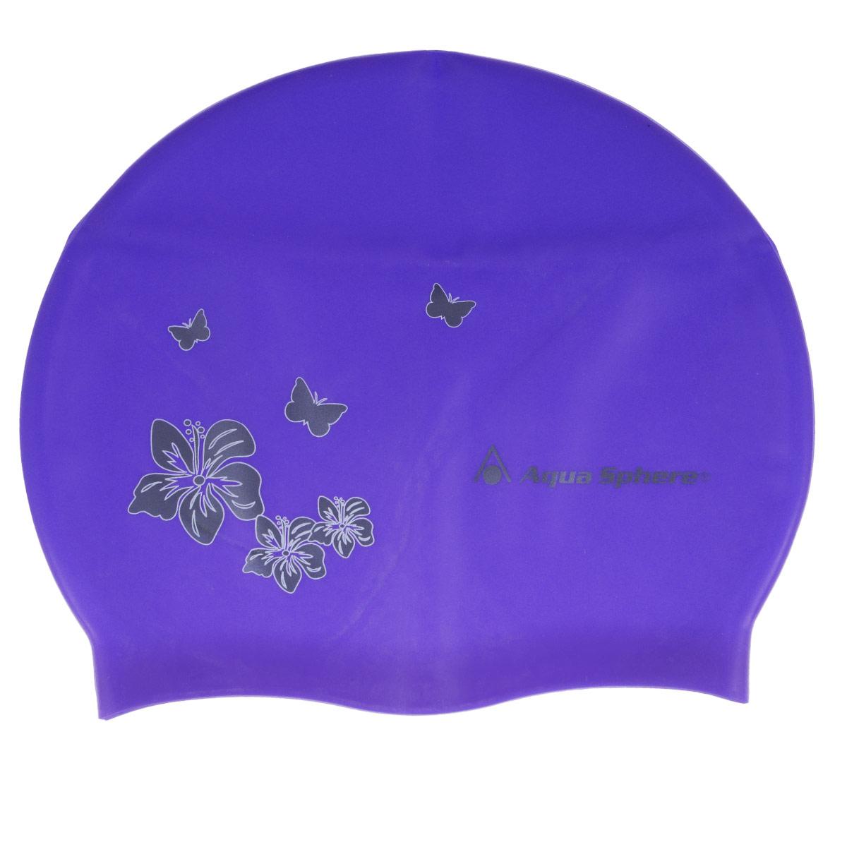 "Aqua Sphere Шапочка для плавания Aqua Sphere ""Dahlia"", взрослая, цвет: бирюзовый"