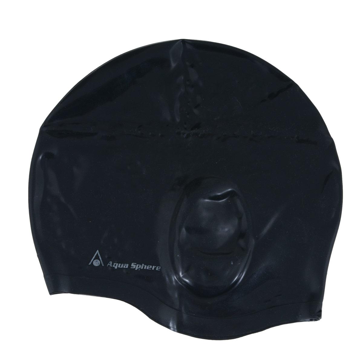 "Шапочка для плавания Aqua Sphere ""Aqua Glide"", цвет: черный"