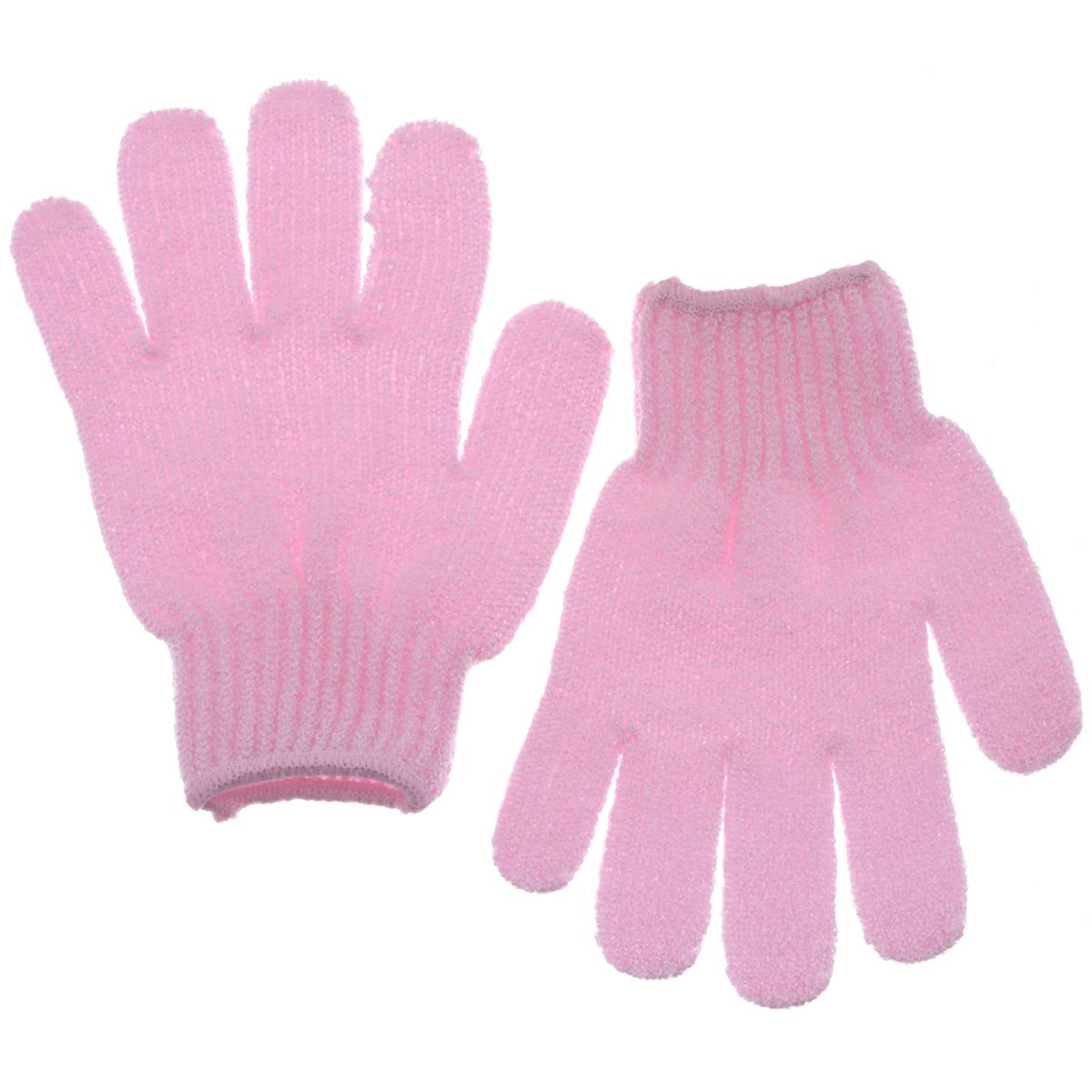 Riffi Перчатки для пилинга, цвет: розовый615_розовыйЭластичные безразмерные перчатки Riffi обладают активным антицеллюлитным эффектом и отличным пилинговым действием, тонизируя, массируя и эффективно очищая вашу кожу. Riffi освобождает кожу от отмерших клеток, стимулирует регенерацию. Эффективно предупреждают образование целлюлита и обеспечивают омолаживающий эффект. Кожа становится гладкой, упругой и лучше готовой к принятию косметических средств. Интенсивный и пощипывающе свежий массаж тела с применением Riffi стимулирует кровообращение, активирует кровоснабжение, способствует обмену веществ. В комплекте 1 пара перчаток. Характеристики: Материал: 100% полиакрил. Размер перчатки (в нерастянутом виде): 17,5 см x 12,5 см. Артикул: 615.