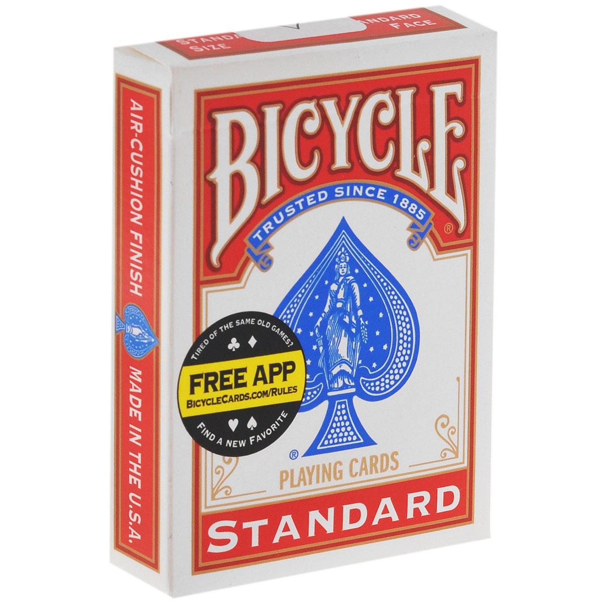 Карты для фокусов Bicycle Svengali, цвет: красный, белый, 52 штК-119Карты для фокусов Bicycle Svengali, изготовлены из картона с пластиковым покрытием. Колода имеет классический покерный размер и дизайн, создана на основе колоды Bicycle Standard. Вы показываете колоду - все карты в ней разные. Дайте зрителю выбрать карту...и! Вся колода состоит из карт которую выбрал зритель. Невероятный эффект! Колода проста в обращении. Позволяет исполнить множество других трюков. Обращаем ваше внимание! Данный комплект карт поставляется без заводской целлофановой упаковки, что является особенностью всех карт для фокусов.