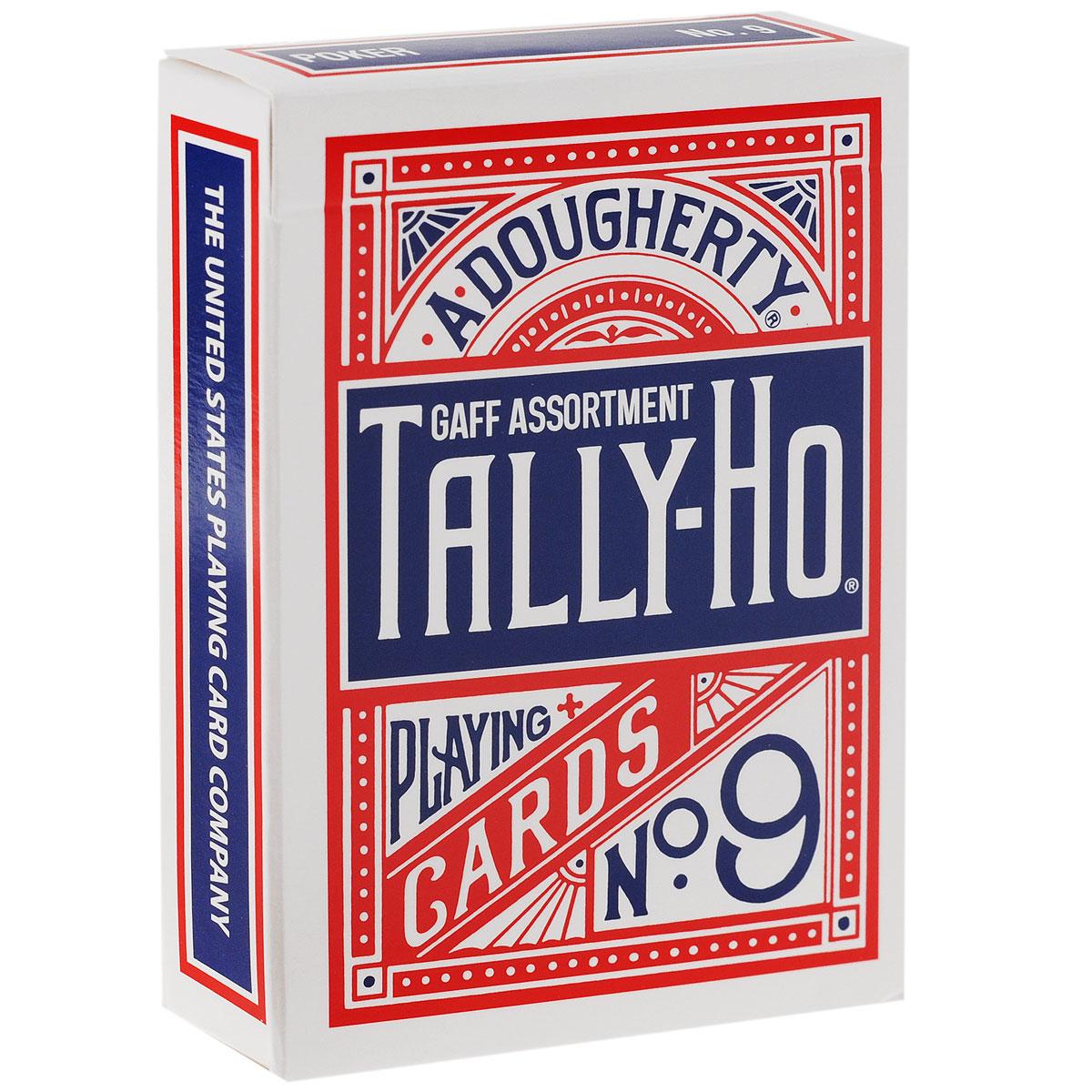 Карты для фокусов Tally-Ho Gaff Deck-CardGaffs, цвет: синий, красный, белый, 56 штК-326Карты для фокусов Tally-Ho Gaff Deck-CardGaffs изготовлены из многослойного картона со специальным пластиковым покрытием Linoid Finish, которое обеспечивает хорошее скольжение и жесткость, а также сохраняет карты от выцветания и изнашивания. Карты стандартного покерного размера и дизайна. Рубашки имеют красивый рисунок в китайском стиле с белой окантовкой. С такими картами очень просто сделать веер и флориш, они легко летают, идеально подходят для фокусов, различных трюков и манипуляций. Tally-Ho Gaff Deck-CardGaffs - содержит множество полезных гафф карт в классическом дизайне Tally-Ho. Колода содержит красные и синие карты дизайна рубашки Fan и Circle. Колода включает карты: С двухсторонней рубашкой - красная/красная, синяя/синяя, красная/синяя и другие. Двухцветные рубашки - разделённые по горизонтали, вертикали и диагонали. Также с двухсторонней рубашкой, с одной стороны дизайн Tally-Ho, с другой Bicycle. Карты с...