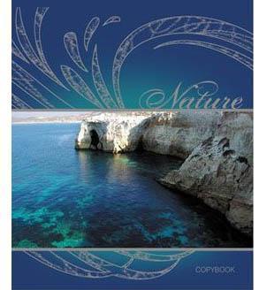 Тетрадь,48л Blue Lagoon, УФ-лак + серебро
