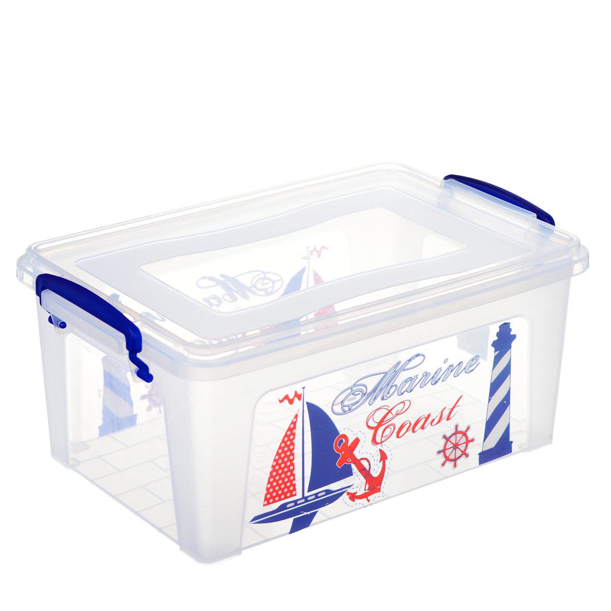 Контейнер Dunya Plastik Корабль, цвет: прозрачный, синий, 9 л30264 синийКонтейнер Dunya Plastik Корабль выполнен из прочного пластика. Он предназначен для хранения различных вещей. Крышка легко открывается и плотно закрывается. Прозрачные стенки позволяют видеть содержимое. По бокам предусмотрены две удобные ручки, с помощью которых контейнер закрывается. Контейнер поможет хранить все в одном месте, а также защитить вещи от пыли, грязи и влаги. Размер контейнера (с учетом крышки): 36 см х 23 см. Высота (с учетом крышки): 16 см.