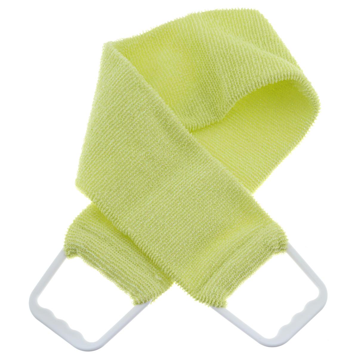 Мочалка 927, цвет: желтый927 желтыйДвухсторонняя мочалка-пояс Riffi применяется для мытья тела, отлично действует как пилинговое средство, тонизируя, массируя и эффективно очищая вашу кожу. Мягкой стороной хорошо намыливать тело и наносить косметические средства после душа. Жесткую (с люрексом) сторону пояса используют для легкого пилинга и массажа кожи. Для удобства применения пояс снабжен двумя пластиковыми ручками. Благодаря отшелушивающему эффекту мочалки-пояса, кожа освобождается от отмерших клеток, становится гладкой, упругой и свежей. Интенсивный и пощипывающе свежий массаж тела с применением Riffi стимулирует кровообращение, активирует кровоснабжение, способствует обмену веществ, что в свою очередь позволяет себя чувствовать бодрым и отдохнувшим после принятия душа или ванны. Riffi регенерирует кожу, делает ее приятно нежной, мягкой и лучше готовой к принятию косметических средств. Приносит приятное расслабление всему организму. Борется со спазмами и болями в мышцах, предупреждает образование...