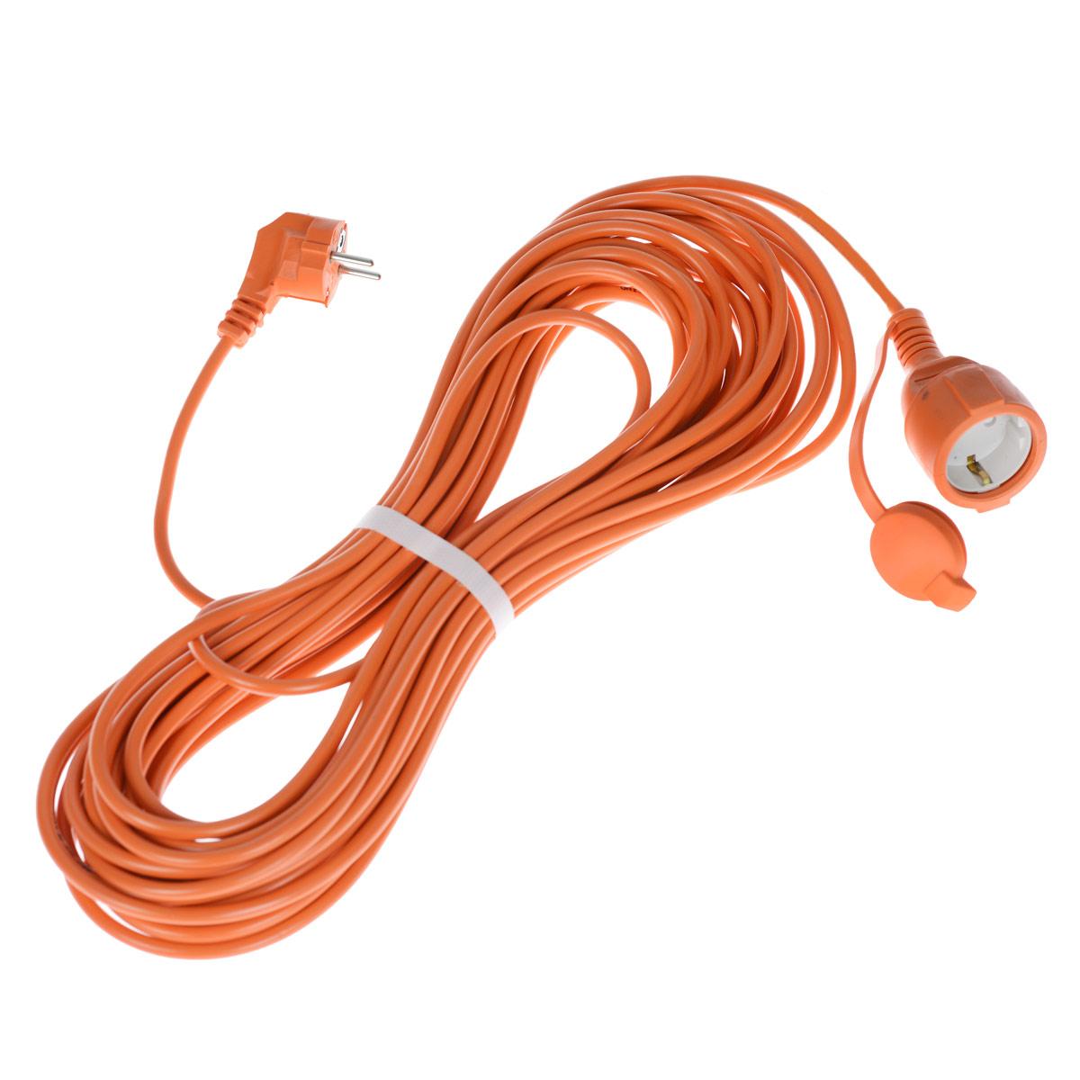 Удлинитель силовой UNIVersal, цвет: оранжевый, 20 м. 8324283242_оранжевыйСиловой удлинитель с заземлением UNIVersal рассчитан на подключение к розетке электроприборов. Незаменим при строительных и ремонтных работах, когда приборы, требующие электропитание, расположены на удаленном расстояние от розетки до 20 метров. Можно использовать как дома, так и в гараже, на приусадебных участках. Контакты вилок изготовлены из латуни и покрыты слоем никеля, что не позволяет им долгое время окисляться под воздействием внешней среды. Обеспечивается надежное электрическое соединение с контактами розеток. Слой каучука, покрывающий розетку, повышает прочность изделия и защищает ее от разрушения при ударах о твердые предметы, а его диэлектрические свойства повышают безопасность работы.