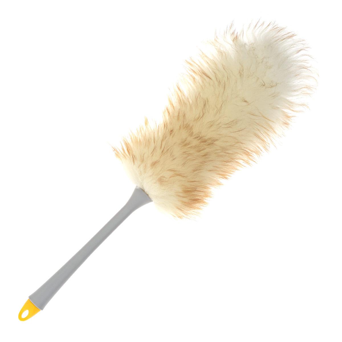 Сметка для пыли Fratelli Re, цвет: серый, бежевый30024-A серыйСметка для пыли Fratelli Re, изготовленная из шерсти мериноса, притягивает пыль и грязь. Она поможет вам убраться в труднодоступных местах. Материал: 100% шерсть мериноса, пластик. Длина: 59 см.