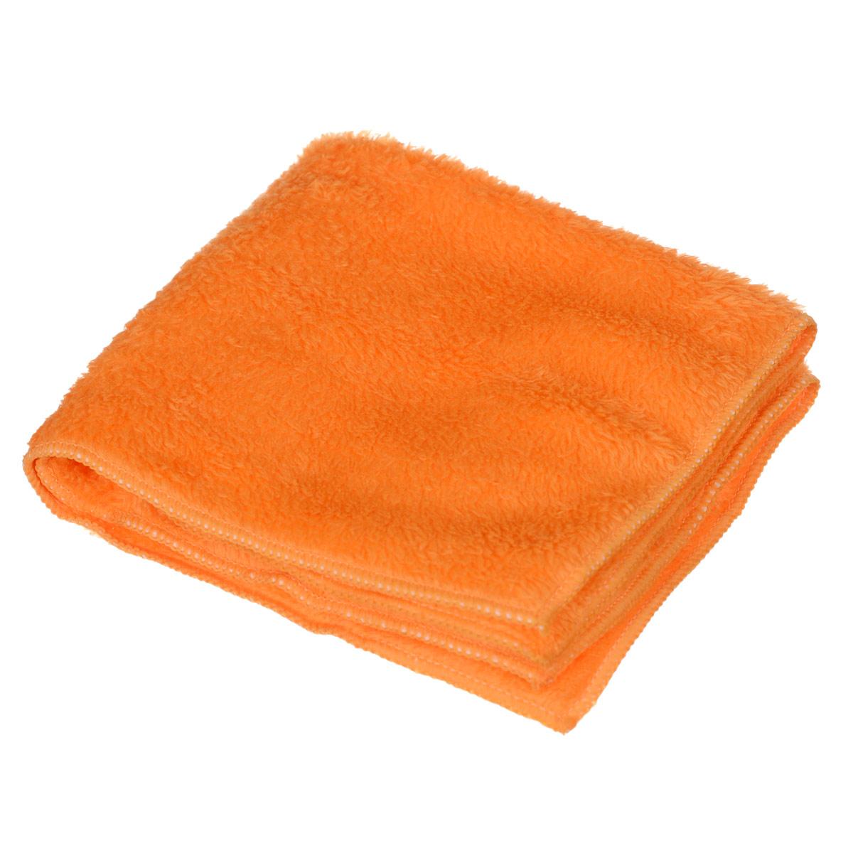 Салфетка чистящая Sapfire, для мытья и полировки автомобиля, цвет: оранжевый, 40 х 40 смSFM-3022_оранжевыйБлагодаря своей уникальной ворсовой структуре, салфетка Sapfire прекрасно подходит для мытья и полировки автомобиля. Материал салфетки (микрофибра) обладает уникальной способностью быстро впитывать большой объем жидкости. Клиновидные микроскопические волокна захватывают и легко удерживают частички пыли, жировой и никотиновый налет, микроорганизмы, в том числе болезнетворные и вызывающие аллергию. Салфетка великолепно удаляет пыль и грязь. Протертая поверхность становится идеально чистой, сухой, блестящей, без разводов и ворсинок. Размер салфетки: 40 см х 40 см.