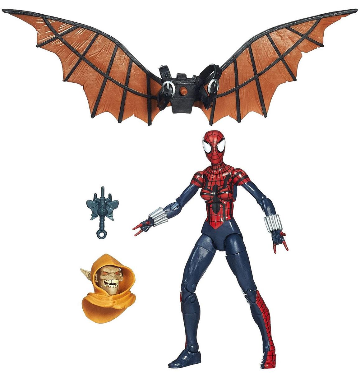 Фигурка Spider-Man Legends: Spider-Girl, 15 см. A6655EU4_A1907A6655EU4_A1907Фигурка Spider-Man Legends: Spider-Girl станет прекрасным подарком для любого маленького поклонника супергероев. Она выполнена из прочного яркого пластика в виде супергероини, дочери Человека-Паука. Голова, руки и ноги фигурки подвижны, что позволит придавать ей различные позы. В комплект также входят элемент в виде застывшего огня и дополнительный элемент в виде головы и крыльев Хобгоблина. Собрав все шесть фигурок серии Legends, вы сконструируете фигурку Хобгоблина полностью. Ваш ребенок будет часами играть с этой фигуркой, придумывая различные истории с участием этой герини. Девушка-Паук - дочь Питера Паркера и Мэри Джейн, в 15 лет унаследовала паучьи способности своего отца. Она очень умна и осторожна, полагается на свое сообразительность, а не на грубую силу, а ее паучье чутье помогает ей избегать опасностей в бою и в мирной жизни.