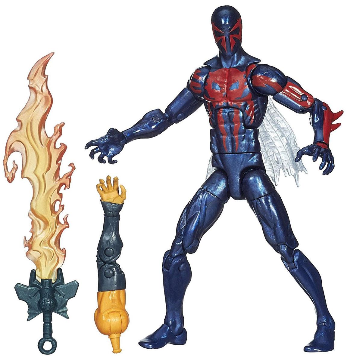 Фигурка Spider-Man Legends: Spider-Man 2099, 15 см. A6655EU4_A1906A6655EU4_A1906Фигурка Spider-Man Legends: Spider-Man 2099 станет прекрасным подарком для любого маленького поклонника супергероев. Она выполнена из прочного яркого пластика в виде супергероя Человека-Паука 2099. Голова, руки и ноги фигурки подвижны, что позволит придавать ей различные позы. В комплект также входит элемент в виде огненного меча и дополнительный элемент в виде руки Хобгоблина. Собрав все шесть фигурок серии Legends, вы сконструируете фигурку Хобгоблина полностью. Ваш ребенок будет часами играть с этой фигуркой, придумывая различные истории с участием супергероя. Человек-Паук 2099 - Мигель ОХара, гениальный молодой генетик. Под его руководством был построен аппарат для сращивания генов, используя в его основе паучье ДНК. Мигель получил паучьи способности, и ему пришлось пуститься в бега, почти всегда находясь в своём паучьем костюме.