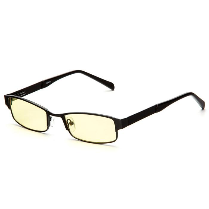 SP Glasses AF031 Luxury, Black компьютерные очкиAF031_BSP Glasses AF031 Luxury - стильные компьютерные очки с желтыми линзами, которые предназначены для защиты глаз от вредного излучения мониторов, ноутбуков, игровых приставок, электронных книг, телевизоров. Их линзы изготовлены из качественного прочного пластика и оснащены специальными светофильтрами, позволяющими не перенапрягать глаза при длительной работе за компьютером и с другими подобными устройствами с дисплеями и мониторами. Очки эффективно уменьшают слезоточивость и резь в глазах, снижают утомляемость. Также их можно использовать для защиты глаз от света люминесцентных ламп, при работе с мелкими деталями и движущимися элементами. Наносники: регулируемые