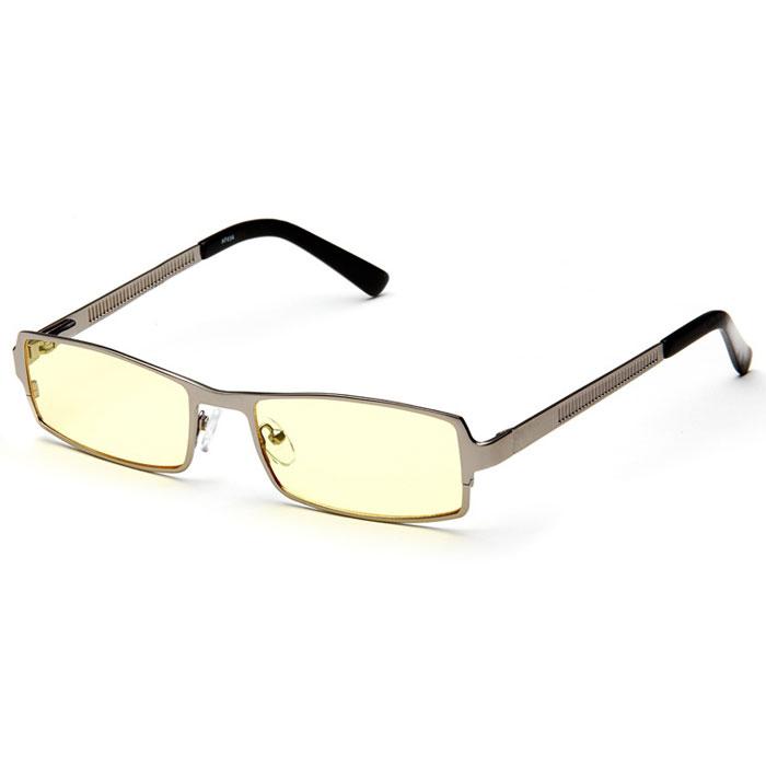 SP Glasses AF034 Luxury, Dark Grey компьютерные очкиAF034_DGSP Glasses AF034 Luxury - компьютерные очки с желтыми линзами, которые предназначены для защиты глаз от вредного излучения мониторов, ноутбуков, игровых приставок, электронных книг, телевизоров. Их линзы изготовлены из качественного прочного пластика и оснащены специальными светофильтрами, позволяющими не перенапрягать глаза при длительной работе за компьютером и с другими подобными устройствами с дисплеями и мониторами. Очки эффективно уменьшают слезоточивость и резь в глазах, снижают утомляемость. Также их можно использовать для защиты глаз от света люминесцентных ламп, при работе с мелкими деталями и движущимися элементами. Наносники: регулируемые Геометрия: прямоугольная
