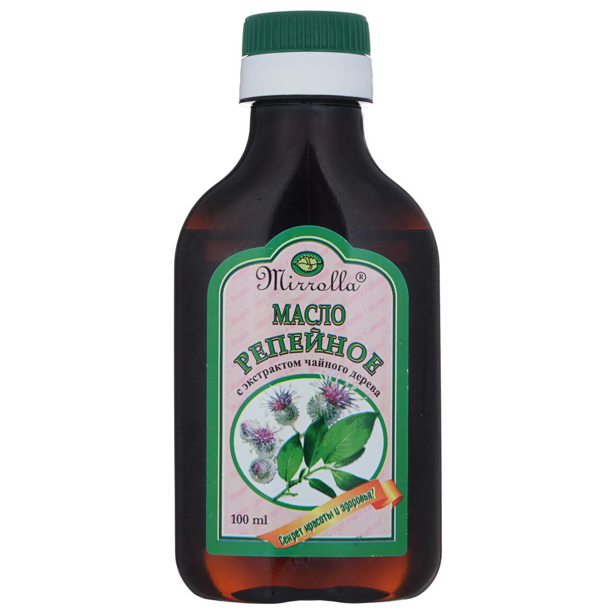Мирролла Репейное масло для волос, с экстрактом чайного дерева, 100 мл