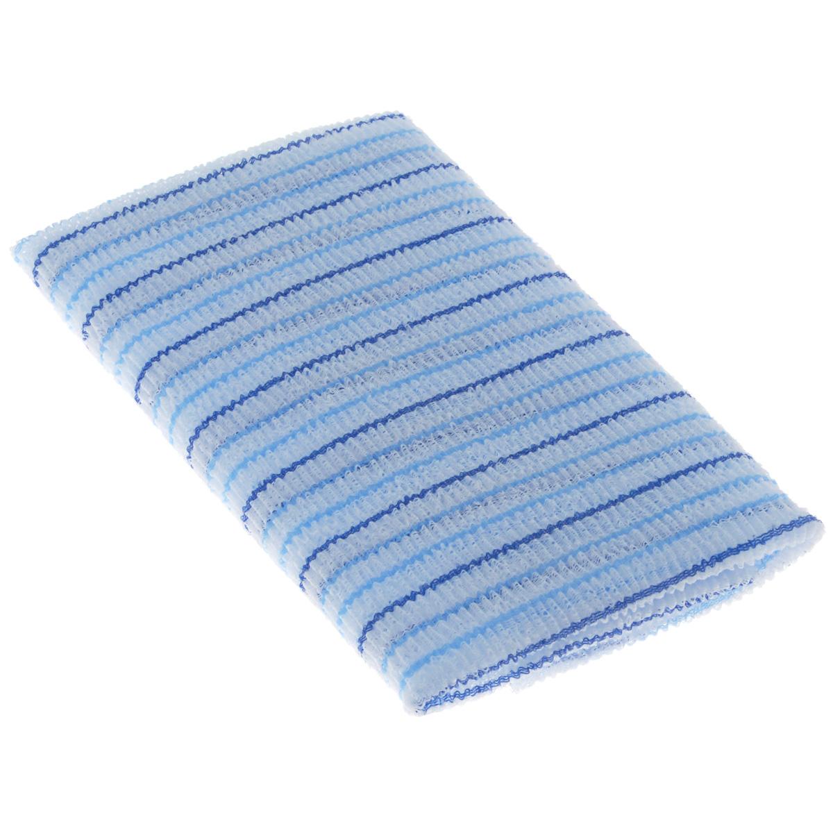 Мочалка для душа SungBo Clean&Beauty Fresh, цвет: голубой, 28 см х 100 смУТ000000670 голубойМочалка SungBo Clean&Beauty Fresh прекрасно подойдет для ухода за вашей кожей во время принятия ванны и душа. Благодаря оригинальной вязке из гофрированного волокна мочалка создает одновременно как ощущение мягкости, так и ощущение пилинга, нежно отшелушивая огрубевшую кожу. Шероховатая текстура мочалки стимулирует циркуляцию крови по всему телу и помогает сохранить здоровье и упругость кожи. Мочалка позволяет получить обильную пену, используя небольшое количество геля для душа.