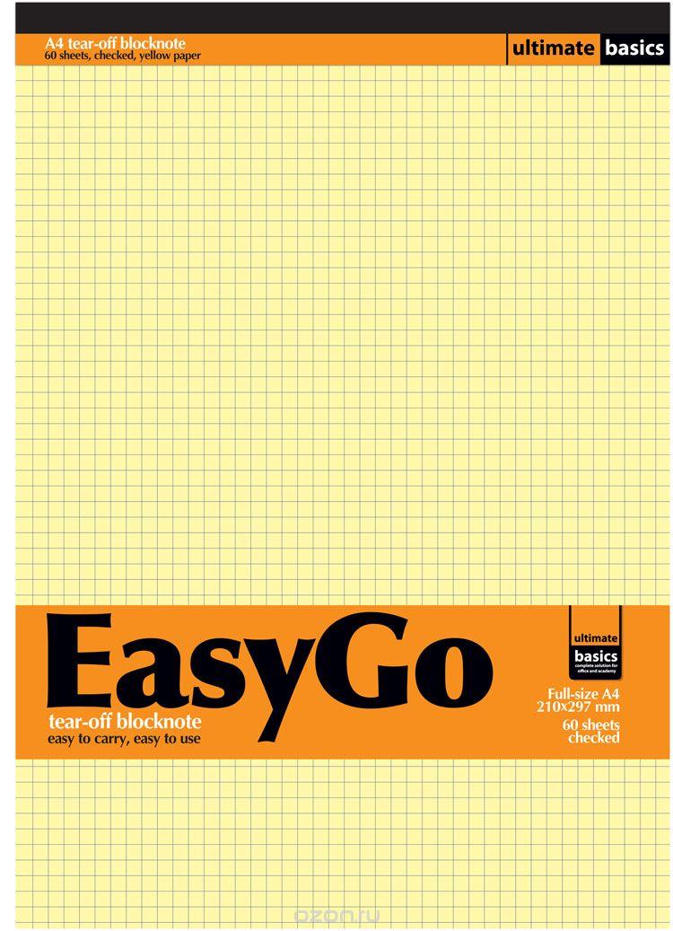 Блокнот NoName Ultimate Basics: Easy Go, 60 листов, цвет: желтый, оранжевыйKSDD005Блокнот Ultimate Basics: Easy Go формата А4 объединяет блок из 60 листов. Бумага высшего сорта плотностью 70 грамм окрашена в желтый цвет и разлинована в клетку. Классический формат А4 подходит для настольного использования, но благодаря жесткой подложке в конце блокнота, для ведения записей не потребуется твердая поверхность. Все страницы снабжены перфорацией, которая гарантирует аккуратную линию отрыва.