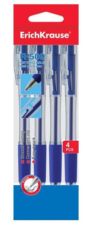 Набор 4 ручки шариковые автомат. R-509