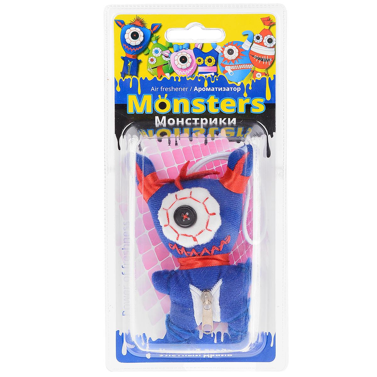 Ароматизатор для салона автомобиля Sapfire Monsters, улетный драйвSAT-2068_синийПодвесной ароматизатор для салона автомобиля Sapfire Monsters имеет приятный аромат. Изделие представляет собой забавную текстильную игрушку, пропитанную ароматическими маслами. Приятные стойкий аромат и забавный монстрик создадут позитивную атмосферу в автомобиле и сделают дорогу веселее. Состав: полимеры, ароматические масла.