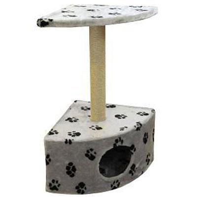 Домик для кошек Пушок, угловой, 43 см х 80 см х 43 см4640000931025Домик для кошек Пушок, выполненный из искусственного меха, будет прекрасным местом для отдыха, игр и уединения вашей кошки. Благодаря угловой форме, домик для кошки не займет много места в помещении. В домике предусмотрена когтеточка. Когтеточка - один из самых необходимых аксессуаров для кошки. Для приучения к когтеточке можно натереть ее сухой валерьянкой или кошачьей мятой. Когтеточка поможет вашему любимцу стачивать когти и при этом не портить вашу мебель.