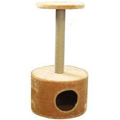 Домик для кошек Пушок, круглый, с когтеточкой, 42 см х 42 см х 80 см4640000931100Домик круглой формы, выполненный из искусственного меха, будет прекрасным местом для отдыха и уединения вашей кошки. В домике предусмотрена когтеточка и полочка. Когтеточка - один из самых необходимых аксессуаров для кошки. Для приучения к когтеточке можно натереть ее сухой валерьянкой или кошачьей мятой. Когтеточка поможет вашему любимцу стачивать когти и при этом не портить вашу мебель.