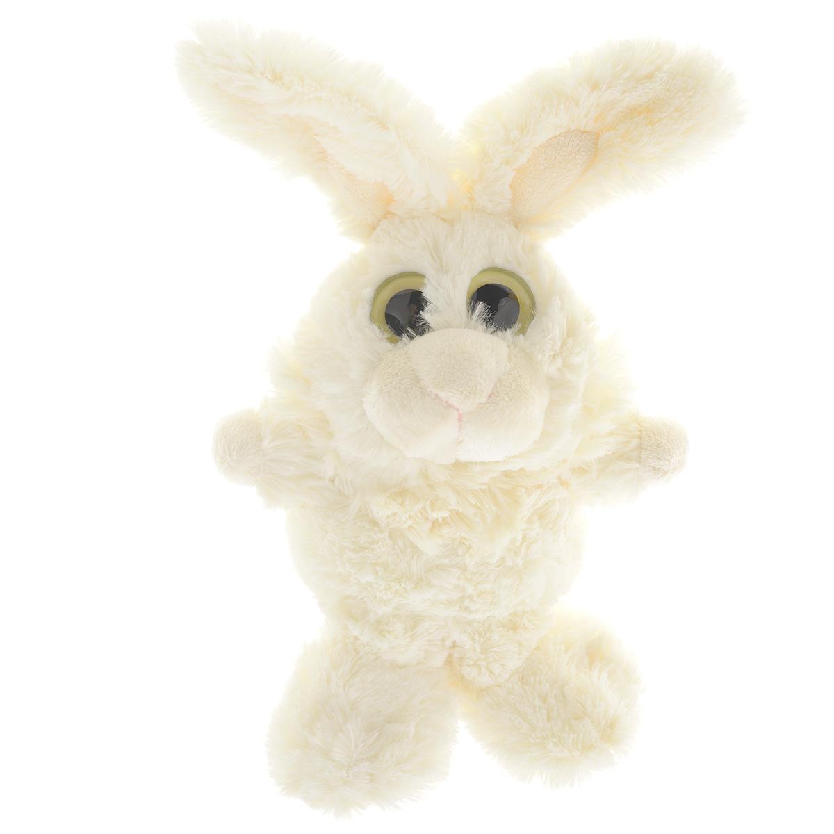 """Мягкая игрушка Gulliver """"Зайчик Глазастик"""", цвет: белый, 22 см - 1"""