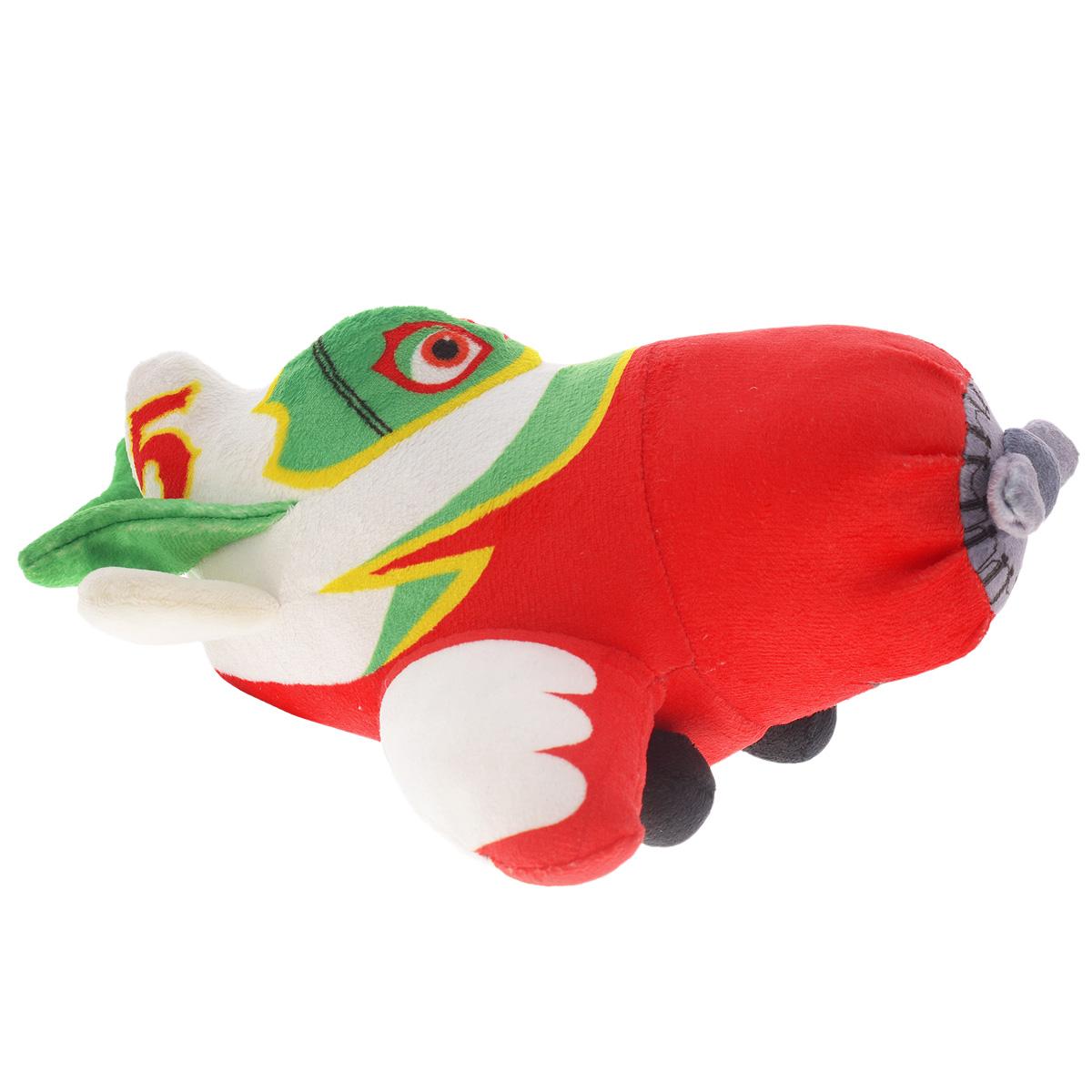 Мягкая озвученная игрушка Planes Эль Чупакабра, 22 смK33043A2Мягкая озвученная игрушка Planes Эль Чупакабра приведет в восторг вашего ребенка. Яркая игрушка, выполненная из приятного на ощупь плюшевого материала, является точной копией героя мультфильма Самолеты. В игрушку встроен чип, который позволяет произносить множество фраз оригинальным голосом персонажа на русском языке и звук мотора. Необходимо просто нажать на крыло самолета и вы услышите такие фразы: Я научу тебя летать, Нас с тобой ждет много приключений, Увидимся в небе, Амиго,  Привет, я Эль Чупакабра, Внимание сеньоры и сеньориты. Данная игрушка способствует развитию воображения и тактильной чувствительности у детей. Ваш ребенок часами будет играть с моделью, придумывая различные истории. Порадуйте его таким замечательным подарком. Игрушка работает от незаменяемой батарейки типа LR6/AA.