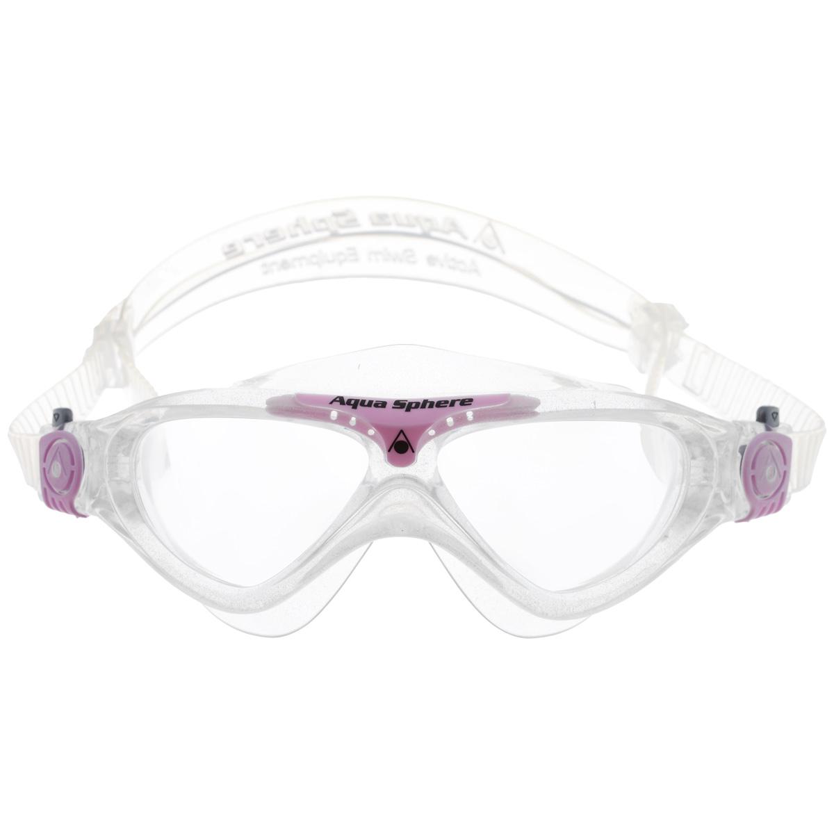 Очки для плавания Aqua Sphere Vista Junior, цвет: прозрачный, розовыйTN 169750Модные и стильные очки для плавания Aqua Sphere Vista Junior идеально подходят для плавания в бассейне или открытой воде. Оснащены линзами с антизапотевающим покрытием, которые устойчивы к появлению царапин. Мягкий комфортный обтюратор плотно прилегает к лицу. Запатентованные изогнутые линзы дают прекрасный обзор на 180° - без искажений. Очки дают 100% защиту от ультрафиолетового излучения спектра А и спектра В. Материал: плексисол, силикон.