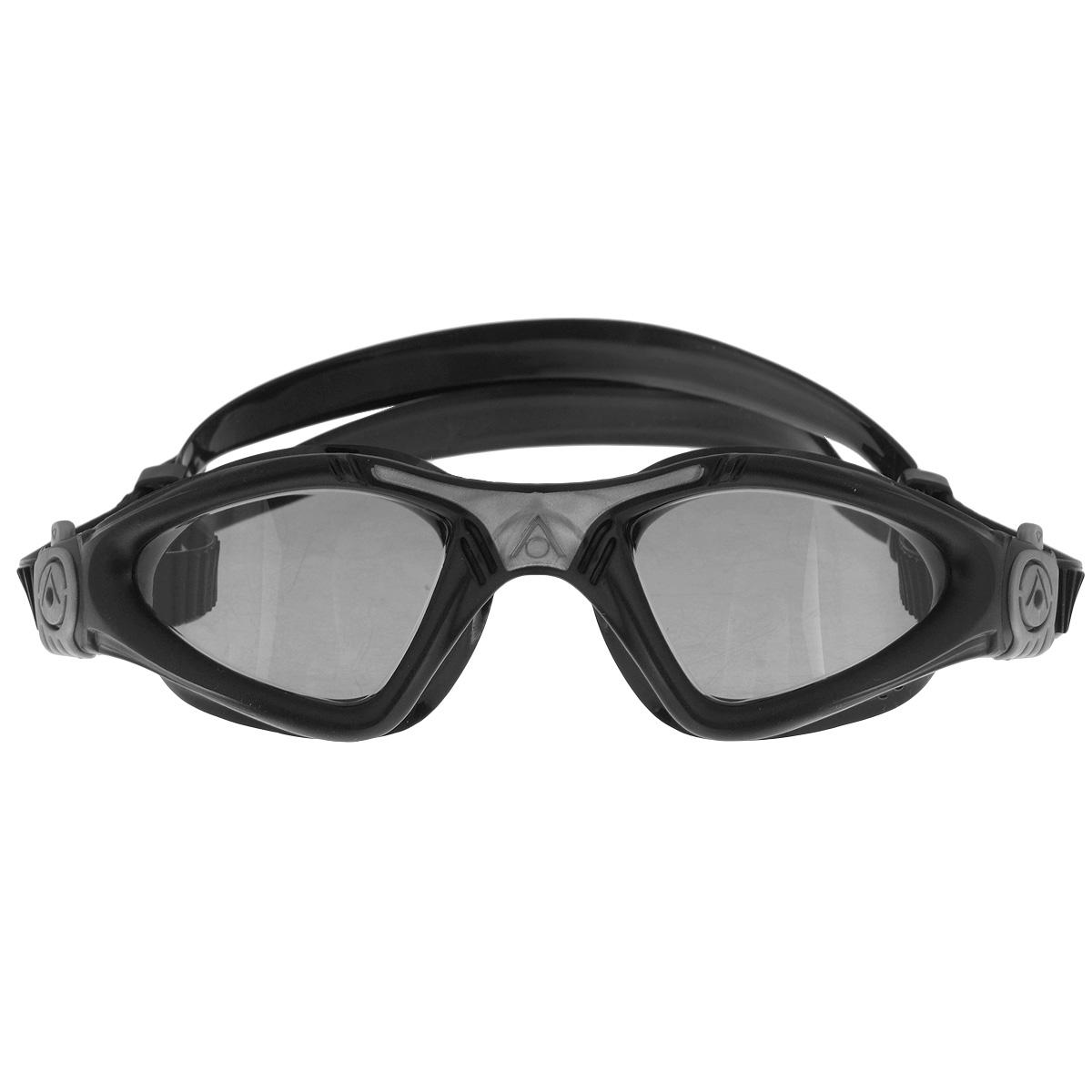 """Очки для плавания Aqua Sphere """"Kayenne"""", прозрачные линзы, цвет: черный, серебристый"""