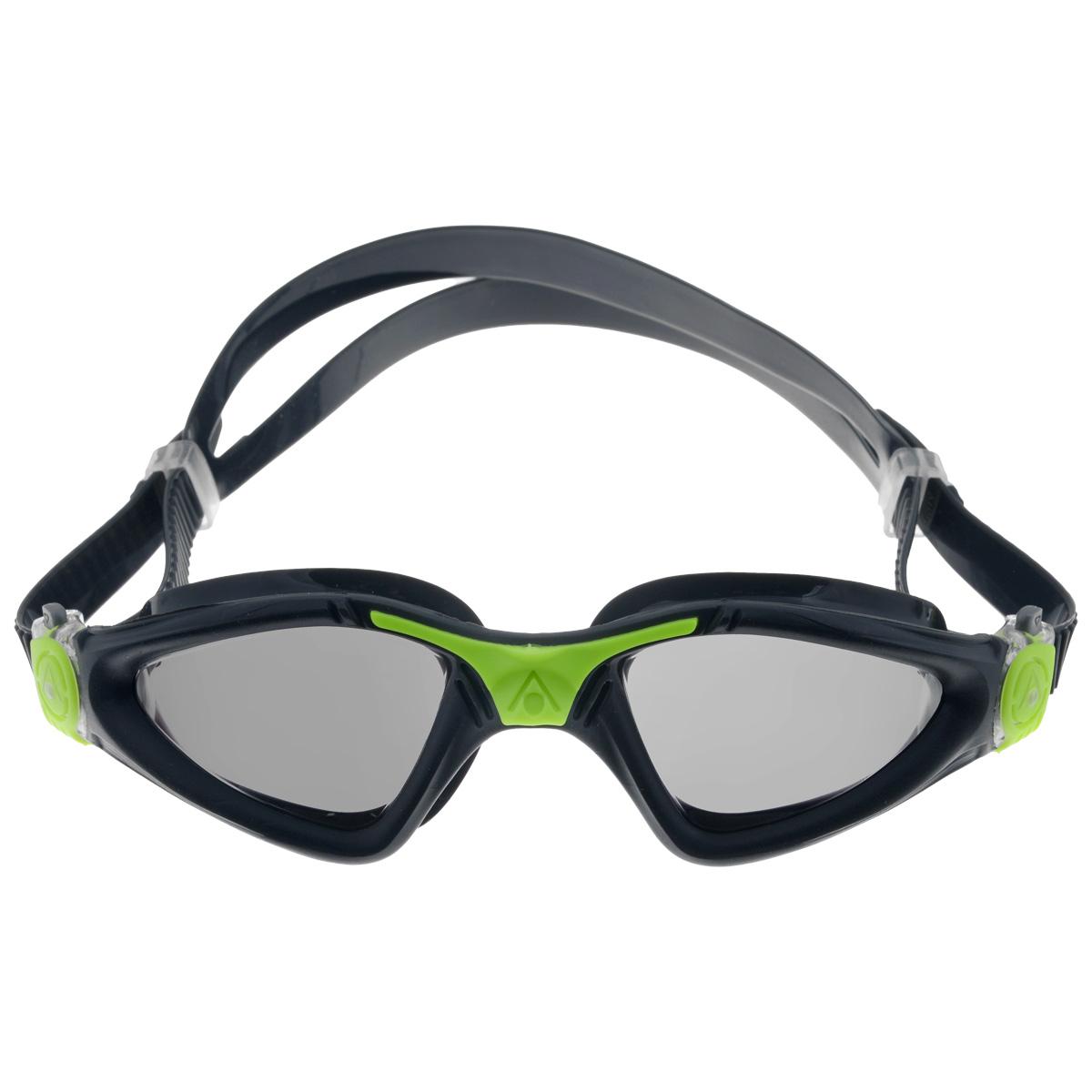 """Очки для плавания Aqua Sphere """"Kayenne"""", зеркальные линзы, цвет: черный, зеленый"""