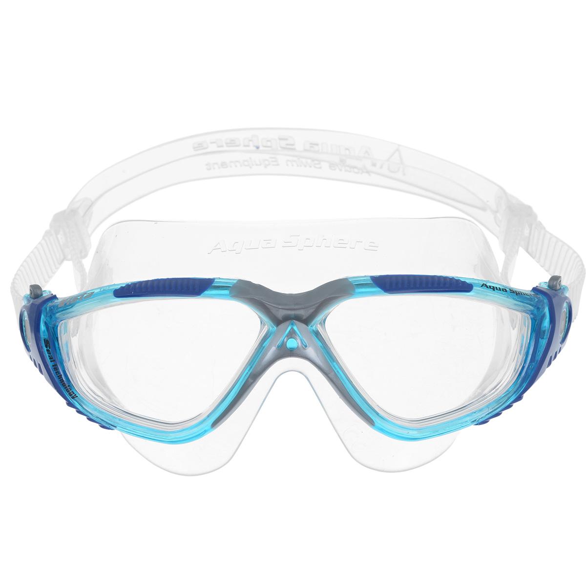 Очки для плавания Aqua Sphere Vista, цвет: аквамарин, синийTN 169610Очки Aqua Sphere Vista имеют исключительно малую парусность, что минимизирует вероятность их сползания во время плавания. Кристально прозрачные полукруглые линзы обеспечивают обзор 180°. Очки дают 100% защиту от ультрафиолетового излучения. Специальное покрытие препятствует запотеванию стекол. Материал: силикон, plexisol.