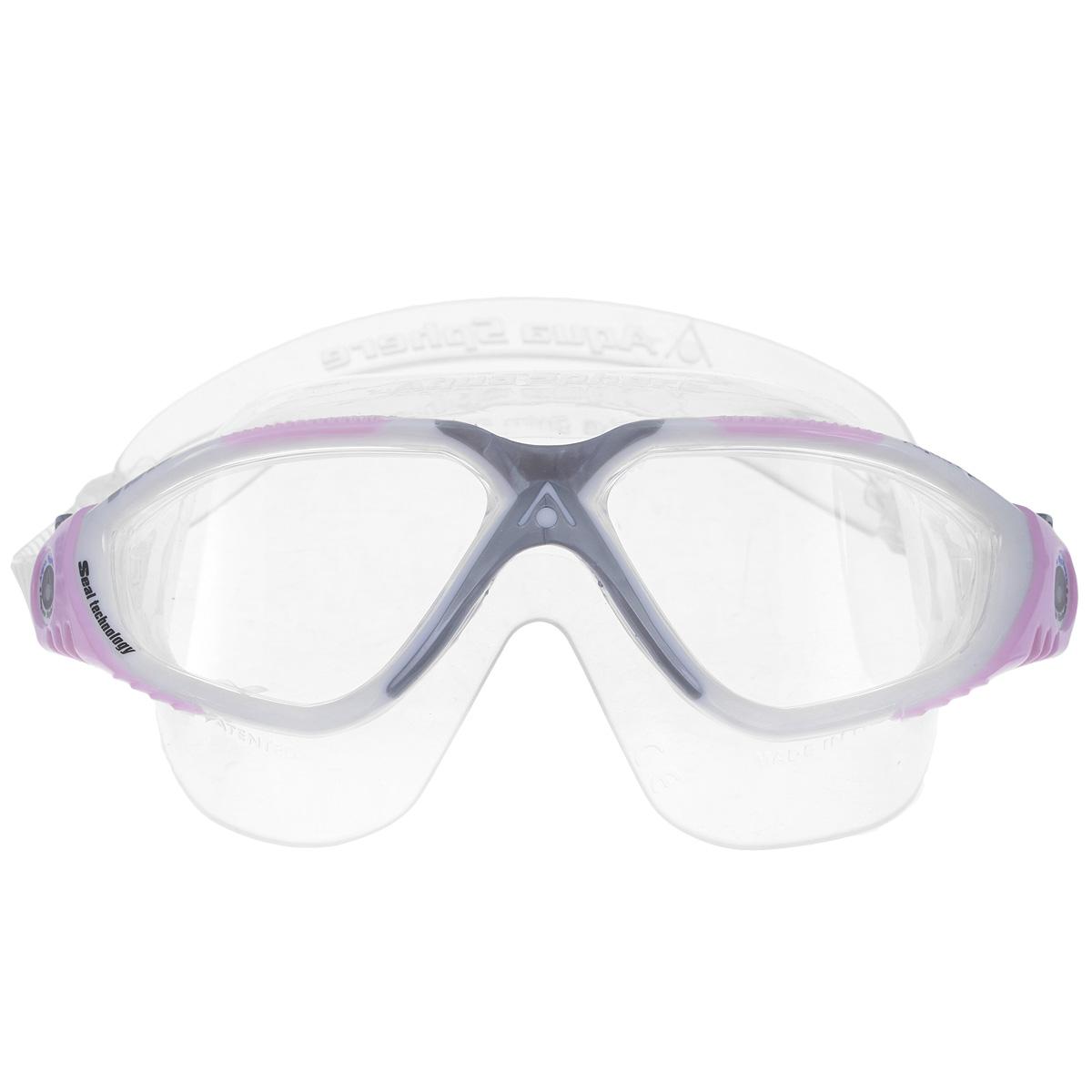 Очки для плавания Aqua Sphere Vista Lady, цвет: белый, розовыйTN 169700Очки Aqua Sphere Vista Lady имеют исключительно малую парусность, что минимизирует вероятность их сползания во время плавания. Кристально прозрачные полукруглые линзы обеспечивают обзор 180°. Очки дают 100% защиту от ультрафиолетового излучения. Специальное покрытие препятствует запотеванию стекол. Материал: силикон, plexisol.