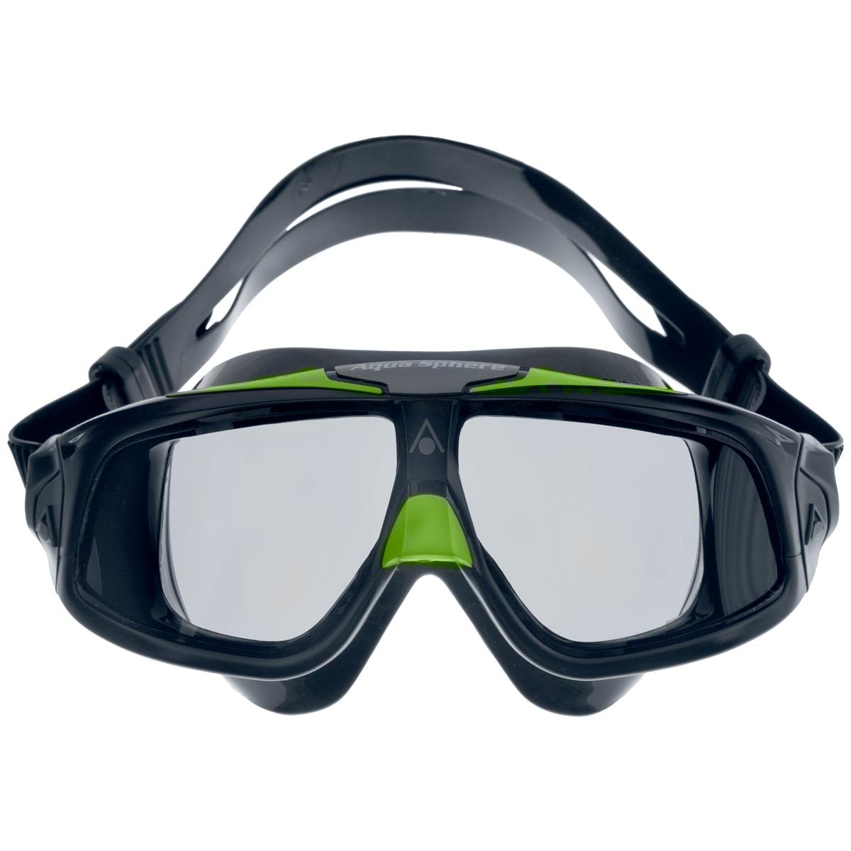 Очки для плавания Aqua Sphere Seal 2.0, цвет: черный, зеленыйTN 175150Aqua Sphere Seal 2.0 являются идеальными очками для тех, кто пользуется контактными линзами, так как они обеспечивают высокий уровень защиты глаз от внешних раздражителей, бактерий, соли и хлора. Особая форма линз обеспечивает панорамный обзор 180°. Очки дают 100% защиту от ультрафиолетового излучения. Специальное покрытие препятствует запотеванию стекол. Материал: силикон, plexisol.