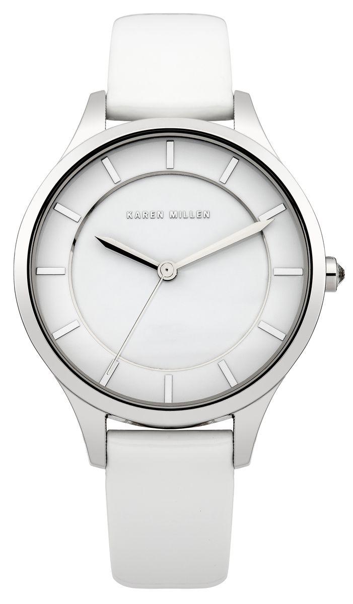 Часы наручные женские Karen Millen, цвет: стальной, белый. KM133W