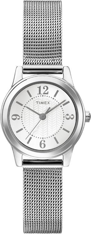 Часы наручные женские Timex, цвет: стальной. T2P457T2P457Великолепные женские наручные часы Timex выполнены из нержавеющей стали. Циферблат изделия оформлен арабскими цифрами, отметками, часовой, минутной и секундной стрелками. Также циферблат дополнен логотипом Timex. Часы оснащены кварцевым механизмом и устойчивым к царапинам минеральным стеклом. Модель обладает степенью влагозащиты 3 atm. Изделие дополнено стальным браслетом, который застегивается на раскладывающийся замок. Часы поставляются на специальной подушечке в стильной коробке с логотипом Timex. Часы, выполненные в классическом дизайне, отлично подчеркнут деловой стиль и вашу женственность.
