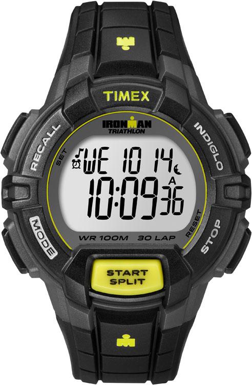 """Часы наручные мужские Timex """"Ironman 30"""", цвет: черный, серый, желтый. T5K790"""