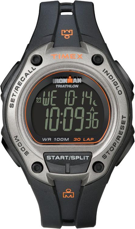 Часы наручные мужские Timex Ironman 30, цвет: черный, серый. T5K758T5K758Стильные мужские наручные часы Timex Ironman 30 - это выбор стильных и активных людей. Корпус выполнен из прочного пластика. Изделие имеет электронный циферблат. Часы оснащены кварцевым механизмом, устойчивым к царапинам пластиковым стеклом и подсветкой циферблата Indiglo. Также часы оснащены индикатором дня, месяца и дня недели, сплит-хронографом на 100 часов, с памятью на 30 кругов, 99 позициями счетчика, таймером обратного отсчета до 24 часов, вторым часовым поясом и встроенной системой напоминаний. Модель обладает степенью влагозащиты 10 atm. Изделие дополнено ремешком из каучука, позволяющим максимально комфортно и быстро снимать и одевать часы при помощи пряжки. Часы поставляются в фирменной коробке. Современный дизайн в спортивном стиле отлично дополнит вашу утреннюю пробежку, а надежность и чувство комфорта сделает ее просто незабываемой.
