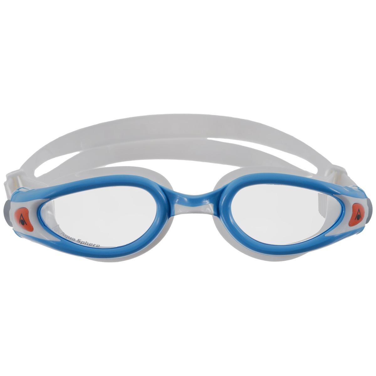 """Очки для плавания Aqua Sphere """"Kaiman Exo Junior"""", цвет: голубой, белый"""
