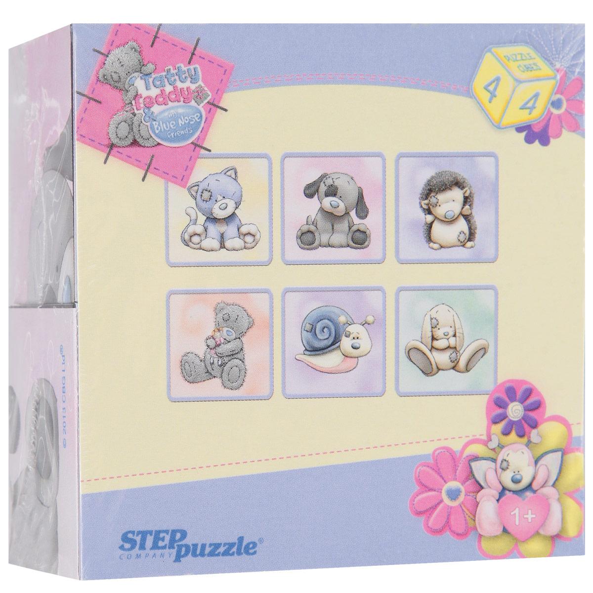 Кубики StepPuzzle Me to You: Кот, 4 шт87135_котКубики StepPuzzle Me to You: Кот включают в себя 4 кубика, на каждой грани которых расположен элемент рисунка. Составляя кубики, малыш сможет собрать 6 красочных картинок с изображением мишки Тедди и его друзей - щеночка, котенка, ежика, улитки и зайчонка. Кубики выполнены из прочного безопасного пластика. Их грани идеально ровные, малышу непременно понравится держать их в руках, рассматривать и строить из них различные конструкции. А собирание ярких картинок с любимыми героями поможет малышу развить навыки логического мышления и поможет ему познакомиться с разными цветами и их названиями. Игры с кубиками развивают мелкую моторику рук, цветовое восприятие и пространственное мышление. Ребенку непременно понравится учиться и играть с кубиками, такие игры не только надолго займут внимание малыша, но и помогут ему развить мелкую моторику, пространственное мышление, зрительное и тактильное восприятие, а также воображение и координацию движений.