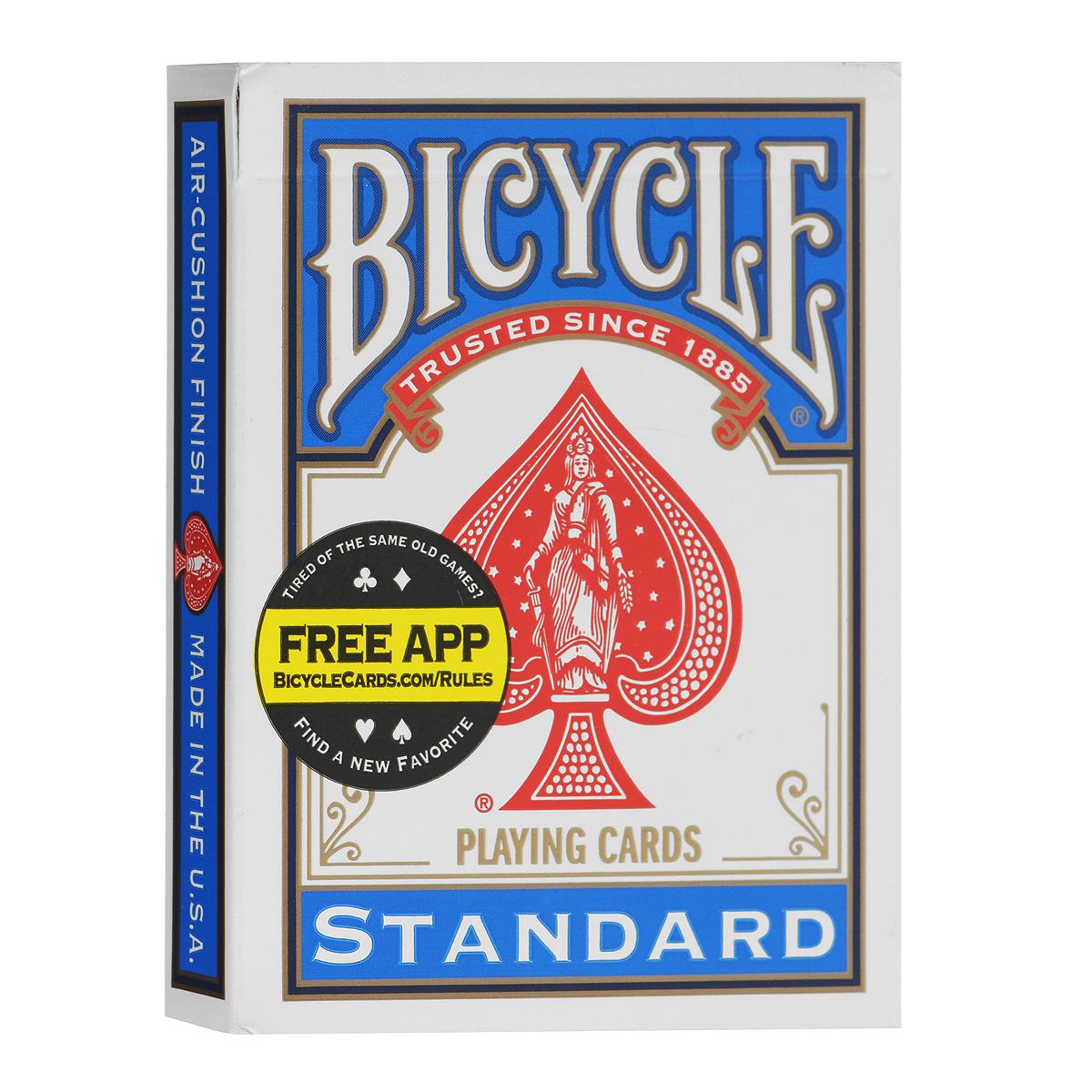Карты для фокусов Bicycle Blank Back, цвет: синийК-444_синийКарты для фокусов Bicycle blank back, цвет: синий Обращаем ваше внимание! Данный комплект карт поставляется без заводской целлофановой упаковки, что является особенностью всех карт для фокусов.