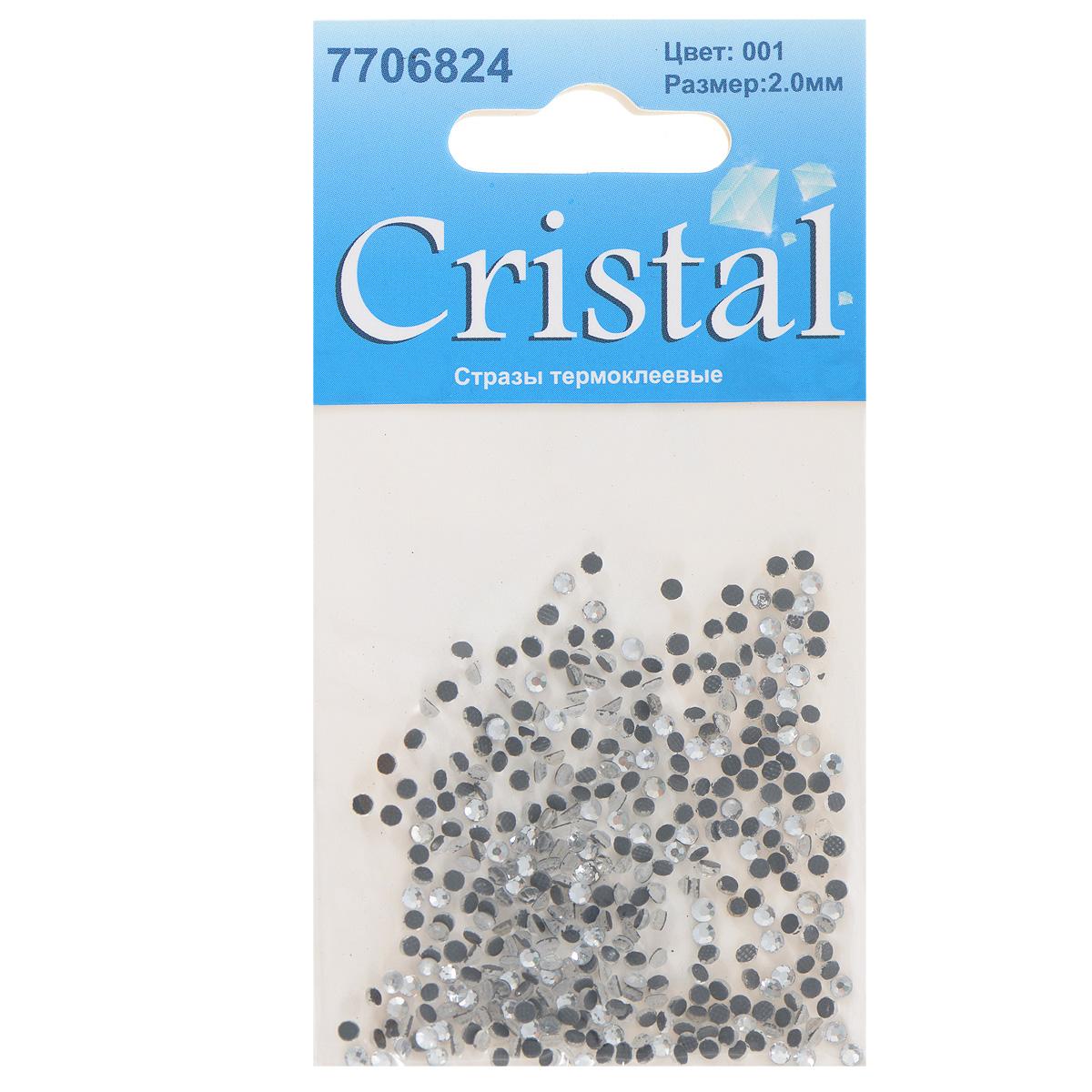 Стразы термоклеевые Cristal, цвет: белый (001), диаметр 2 мм, 432 шт7706824_001Набор термоклеевых страз Cristal, изготовленный из высококачественного акрила, позволит вам украсить одежду, аксессуары или текстиль. Яркие стразы имеют плоское дно и круглую поверхность с гранями. Дно термоклеевых страз уже обработано особым клеем, который под воздействием высоких температур начинает плавиться, приклеиваясь, таким образом, к требуемой поверхности. Чаще всего их используют в текстильной промышленности: стразы прикладывают к ткани и проглаживают утюгом с обратной стороны. Также можно использовать специальный паяльник. Украшение стразами поможет сделать любую вещь оригинальной и неповторимой. Диаметр страз: 2 мм.