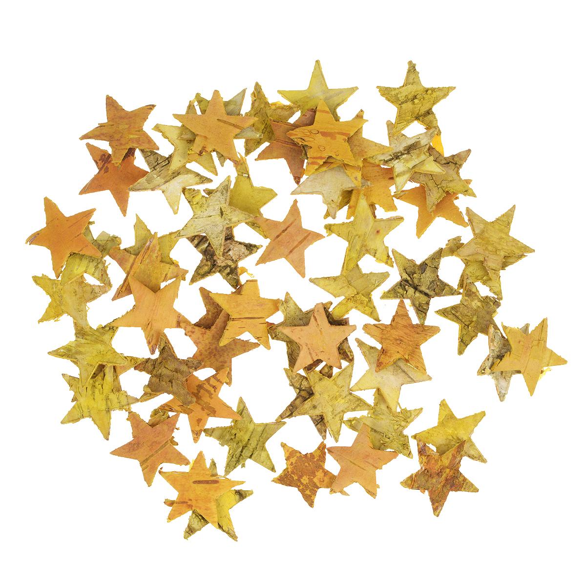 Декоративный элемент Dongjiang Art Звезда, цвет: желтый, 50 шт7709005Декоративный элемент Dongjiang Art Звезда, изготовленный из натуральной коры дерева, предназначен для украшения цветочных композиций. Изделие можно также использовать в технике скрапбукинг и многом другом. Флористика - вид декоративно-прикладного искусства, который использует живые, засушенные или консервированные природные материалы для создания флористических работ. Это целый мир, в котором есть место и строгому математическому расчету, и вдохновению.