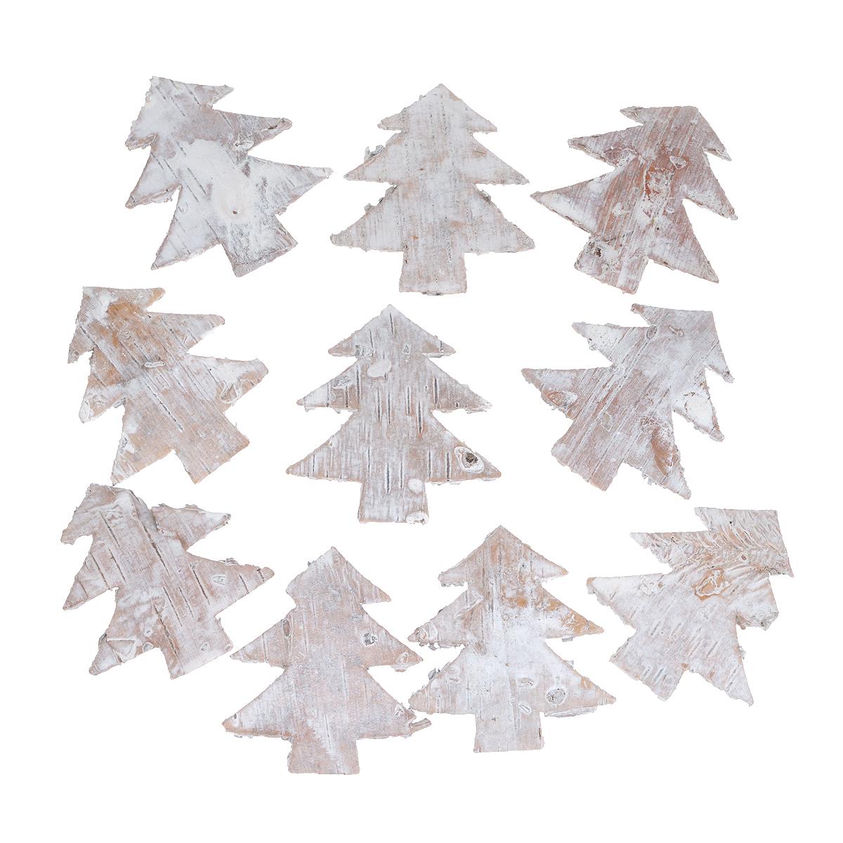 Декоративный элемент Dongjiang Art Елка, цвет: белый, 10 шт7709018Декоративный элемент Dongjiang Art Елка, изготовленный из натуральной коры дерева, предназначен для украшения цветочных композиций. Изделие можно также использовать в технике скрапбукинг и многом другом. Флористика - вид декоративно-прикладного искусства, который использует живые, засушенные или консервированные природные материалы для создания флористических работ. Это целый мир, в котором есть место и строгому математическому расчету, и вдохновению.